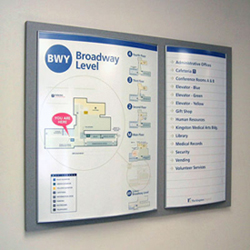 Directories and directional signs